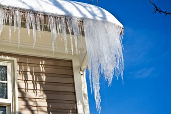 House with icicles